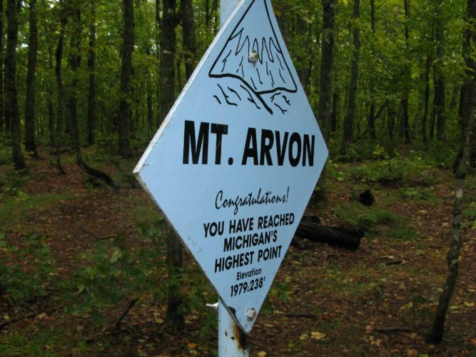 Mount Arvon, Michigan Highpoint