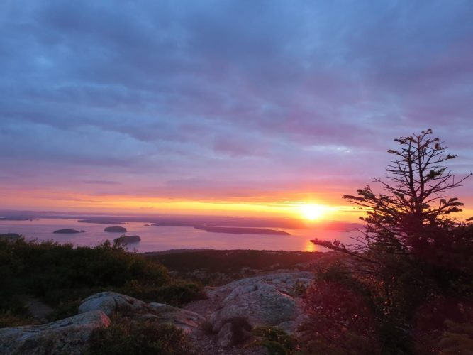 Cadillac Mountain, Maine, Acadia, Sunrise
