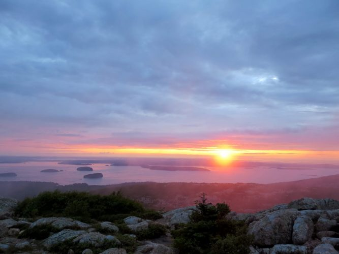 Cadillac Mountain, Maine, Sunrise