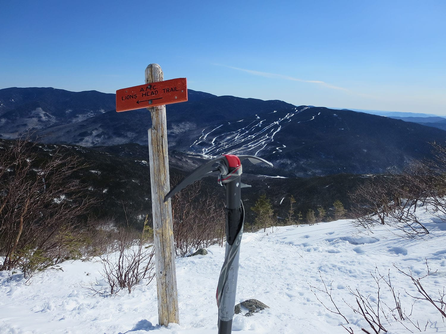 Lion Head winter route on Mount Washington