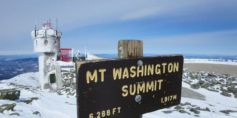 Mount Washington winter summit