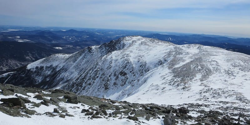Mount Washington NH in winter
