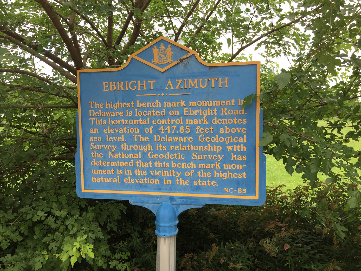 Ebright Azimuth, Delaware Highpoint