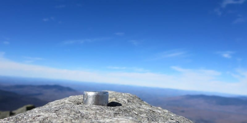 Mount Jefferson New Hampshire summit marker